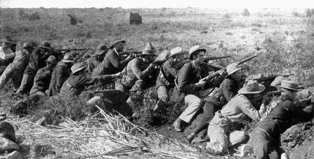 Soldati boeri asediano la cittadina di Mafikeng, 1899
