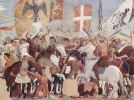 Battaglia tra gli eserciti di Eraclio e Cosroe II, affresco di Piero della Francesca
