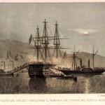 Il Monarca, poi Re Galantuomo, attaccato dai garibaldini nel 1860 mentre è ancorato a Castellammare