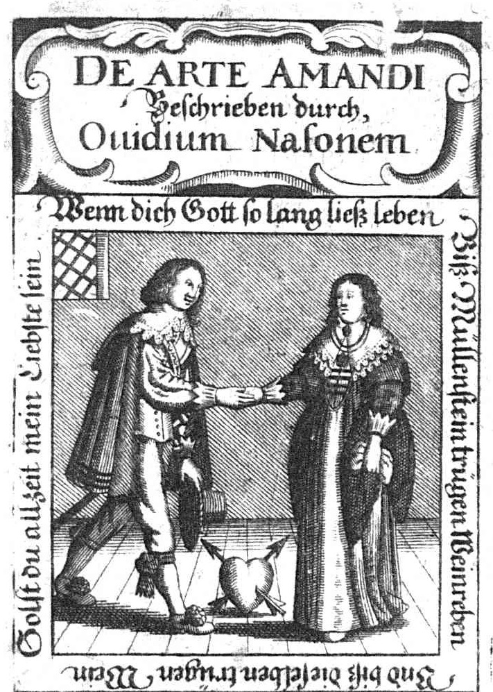 Frontespizio di un'edizione tedesca (1644) dell'Ars amatoria di Ovidio