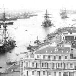Port Said, all'imbocco del canale di Suez, nel 1880