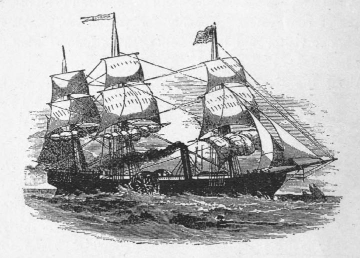 Il Savannah, artefice della prima traversata atlantica