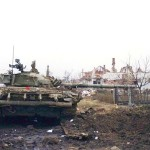 Carro armato distrutto a Vukovar, 1991 - Peter Denton