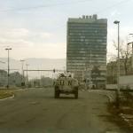 Un blindato dell'ONU a Sarajevo, 1995 - Paalso