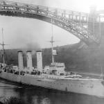 Il Dresden nel canale di Kiel, 1909