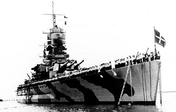 La corazzata italiana Littorio