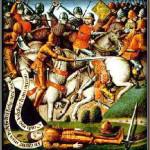 La battaglia di Roncisvalle in una miniatura del XV secolo