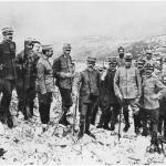 Agosto 1916, il generale Cadorna ispeziona le posizioni sul Sabotino