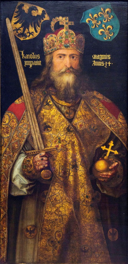 Carlo Magno in un dipinto di Albrecht Dürer