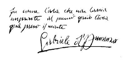 Il verso autografo di Gabriele D'Annunzio dedicato alla conquista del Sabotino