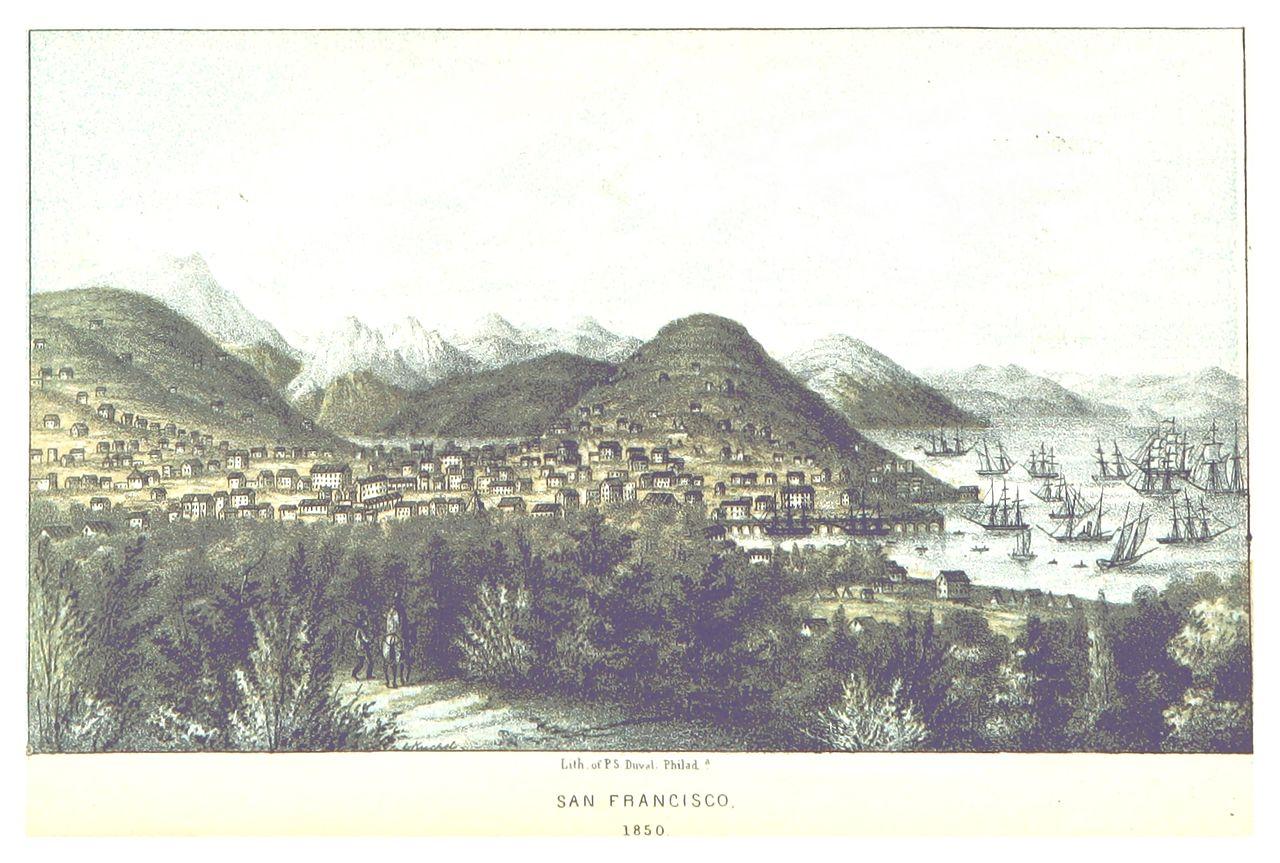 Veduta di San Francisco intorno al 1850