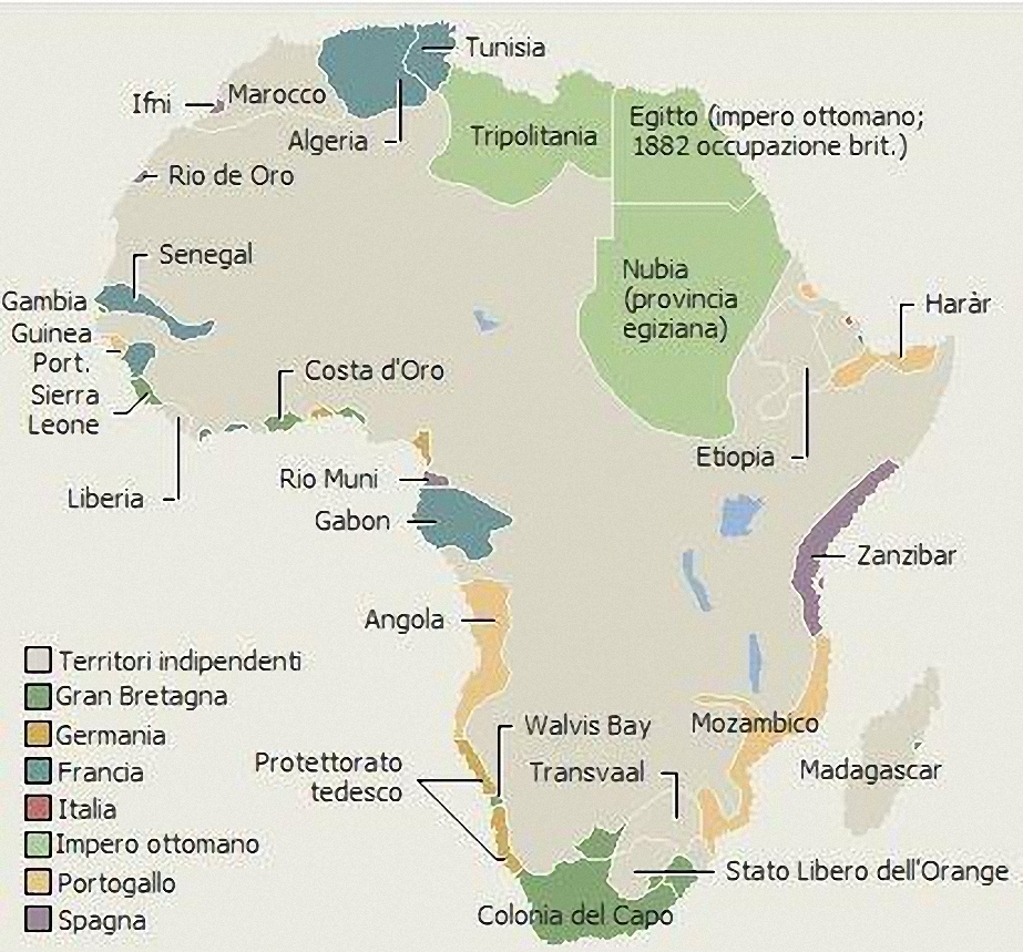 La spartizione dell'Africa dopo la conferenza di Berlino