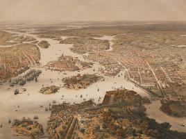 Panorama di Stoccolma nel 1868
