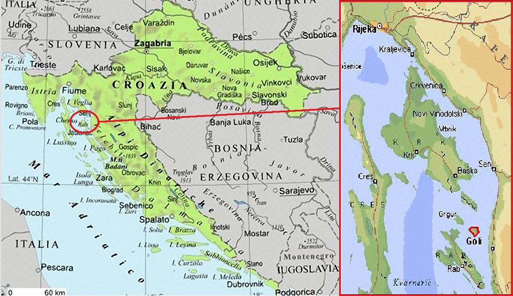 Cartina Geografica Ex Jugoslavia.Goli Otok Il Gulag Di Tito