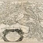 Carta della «Tartaria d'Europa» del 1684, contenente «le due Ukraine, una abitata da Cossachi Tanaiti soggetti al Moscouita, l'altra da Cossachi di Zaporowa, ora liberi e già dipendenti dalla Polonia»