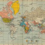 Carta geopolitica del mondo nel 1910