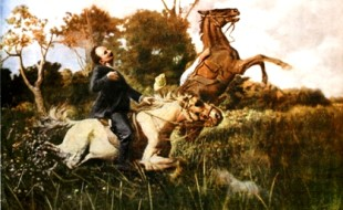 La morte di José Martí in dipinto di Esteban Valderrama (1917)