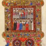 Pagina miniata del Pontificale