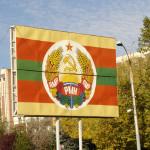 La bandiera e il simbolo della Transnistria