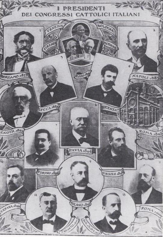 I presidenti dei congressi cattolici italiani