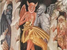 Diavoli di guardia al limbo, Andrea di  Bonaiuto, Santa Maria Novella, Firenze