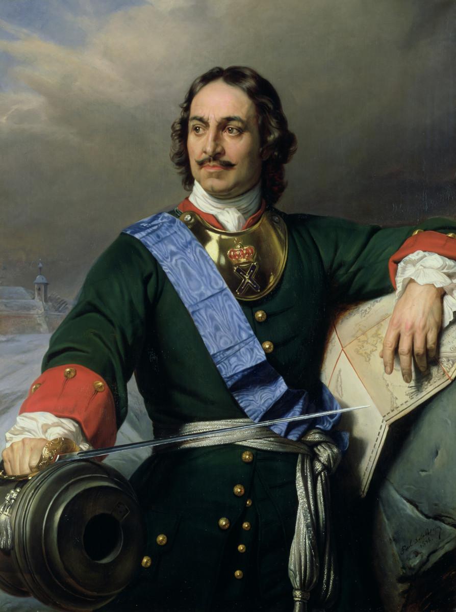 Pietro il Grande in un dipinto di Paul Delaroche
