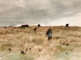 Anton Mauve, Spigolatori nella brughiera, 1882-1888