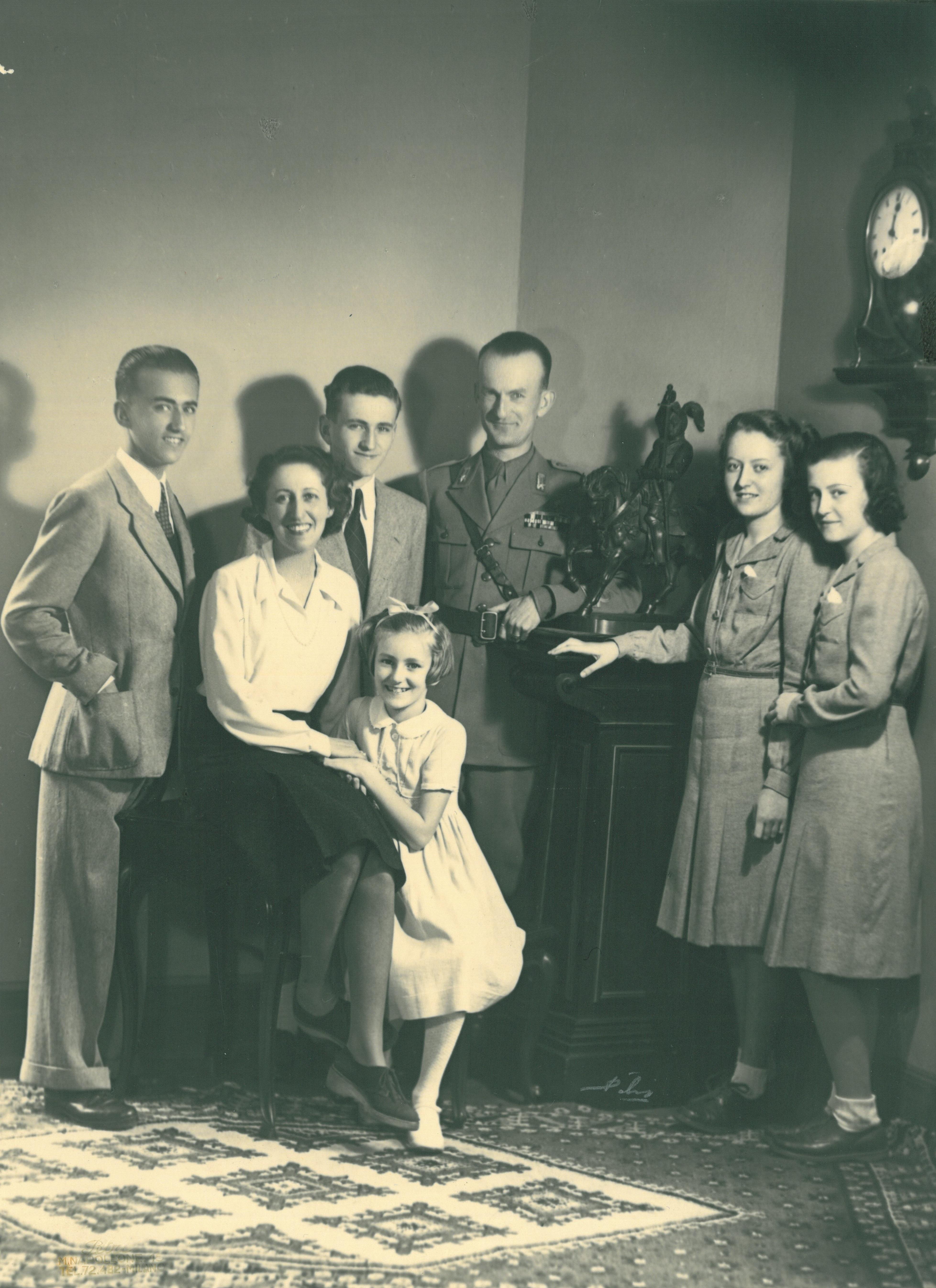 La famiglia Montezemolo a Roma nel 1941