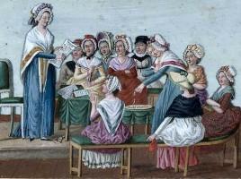 Club patriottico femminile nel 1791.