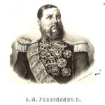 Ferdinando II in una stampa del 1855