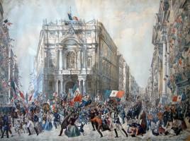 Ingresso di Garibaldi a Napoli il 7 settembre 1860, di Franz Wenzel