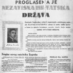 La proclamazione ufficiale dell'indipendenza dello Stato croato