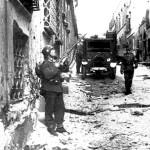 Palazzo Tittoni, in via Rasella, subito dopo lo scoppio