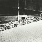 Le vittime del battaglione Boxen allineate a via Rasella.