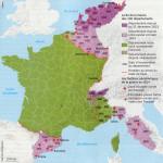 I dipartimenti persi dalla Francia dopo Napoleone