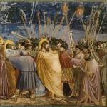 Il bacio di Giuda, affresco di Giotto nella Cappella degli Scrovegni a Padova