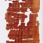 Prima pagina del Vangelo di Giuda, corrispondente alla pagina 33 del Codex Tchacos.