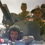 Truppe sovietiche in ritirata dall'Afghanistan