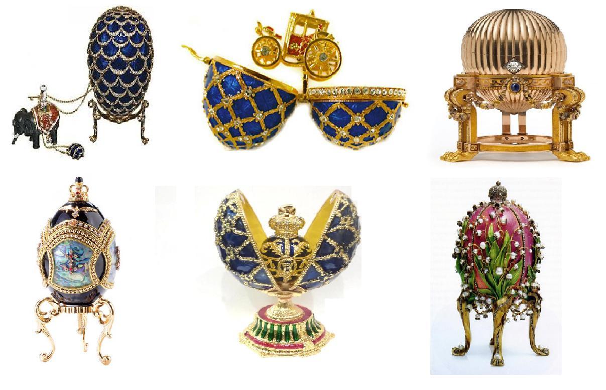 Alcuni capolavori di Fabergé
