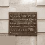 Lapide sulla casa abitata da Robespierre ad Arras