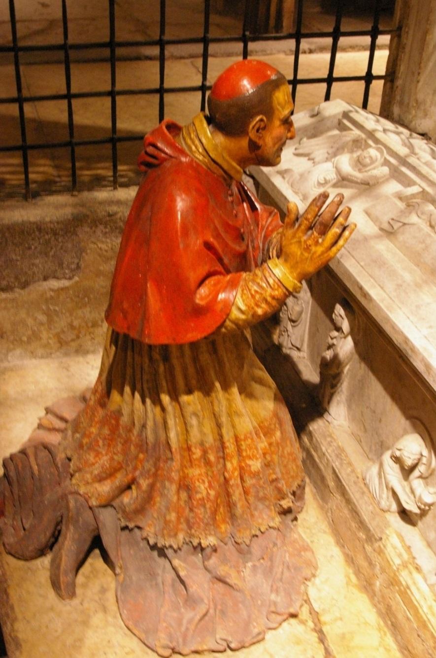 Il cardinale Borromeo in preghiera