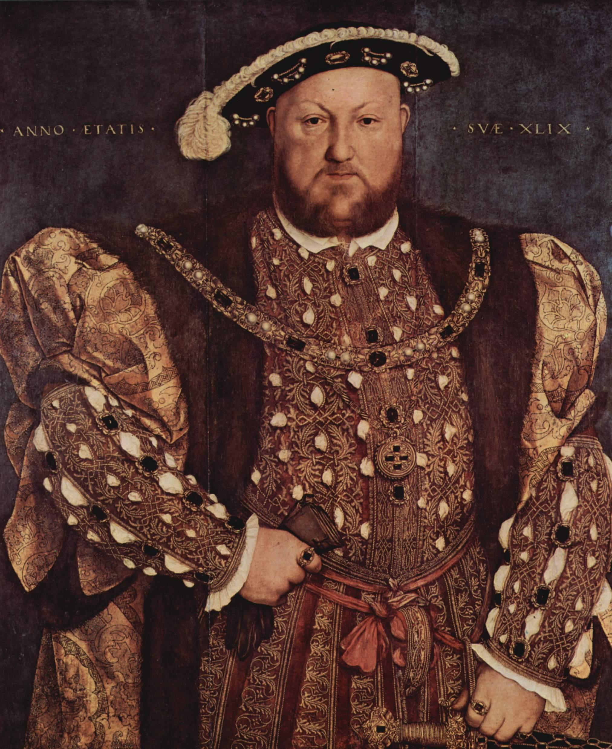 Enrico VIII, di Hans Holbein