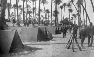 Accampamento italiano a Tripoli