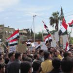 Manifestazione pro Assad a Damasco, 2011