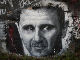 Bashar el Assad in un graffito -  thierry ehrmann