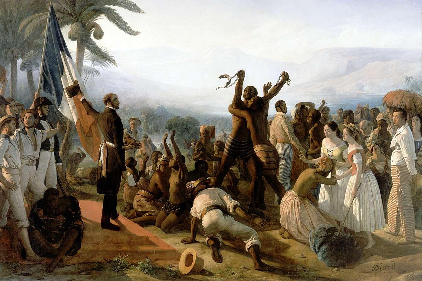 Proclamazione dell'abolizione della schiavitù nelle colonie francesi 1849, di Francosi Auguste Biard