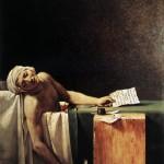La morte di Marat, di Jacques-Louis David