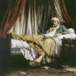 Marat scrive i suoi articoli, di Luc-Etienne Melingue