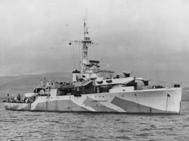 La Amethyst durante la seconda guerra mondiale