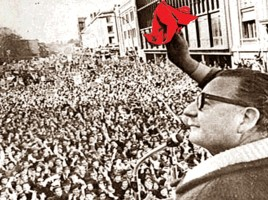 Allende durante la campagna elettorale
